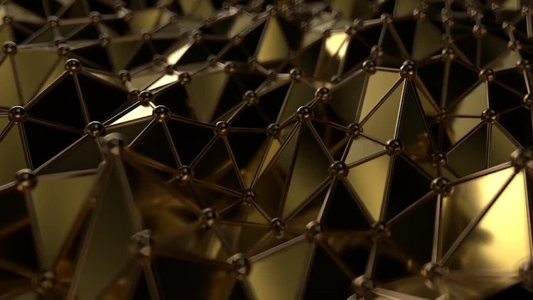 Golden Triangles Loop: Motion Graphics