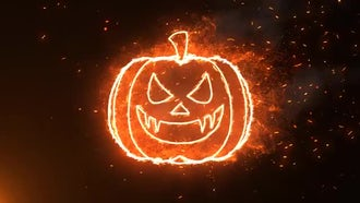 Halloween Burning Pumpkin: Motion Graphics