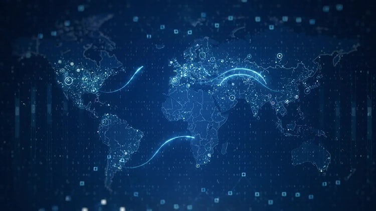 Technological world maps stock motion graphics motion array technological world maps stock motion graphics gumiabroncs Image collections