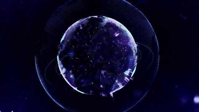 Blue Globe: Stock Motion Graphics