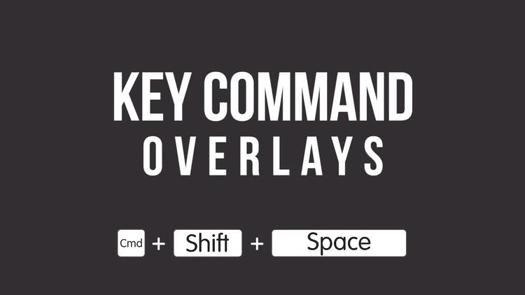 Key Command Overlays For Tutorials: Premiere Pro Templates