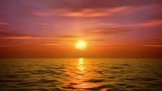 Sea Sunset: Motion Graphics