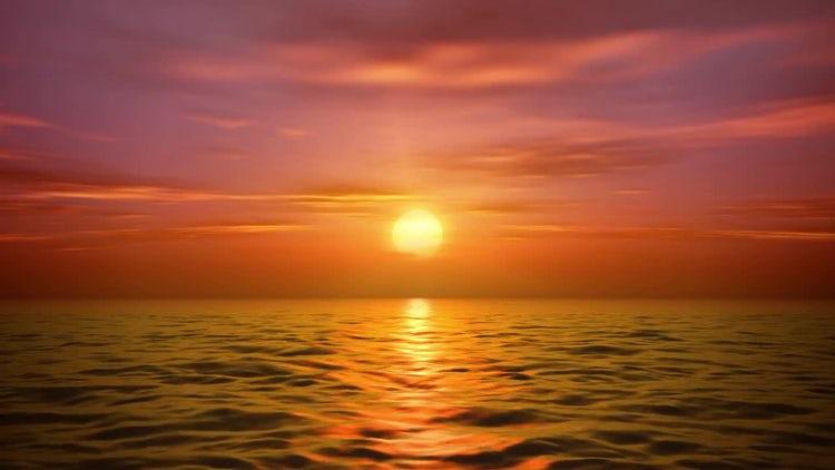 Sea Sunset: Stock Motion Graphics