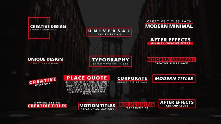 15 Modern Titles II: After Effects Templates