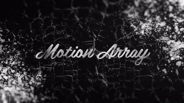 Grunge Ink Logo: After Effects Templates
