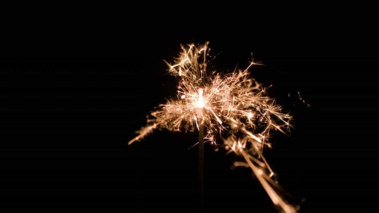 Burning Sparklers: Stock Video