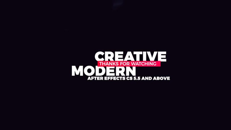 Creative Titles: After Effects Templates