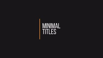 Simple Minimal Titles: Premiere Pro Templates