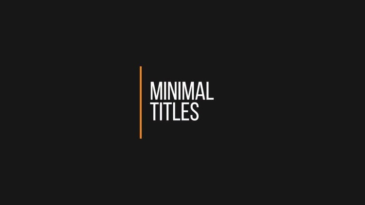 Simple minimal titles premiere pro templates motion array for Premiere pro animated title templates