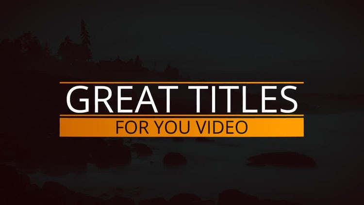 Fresh Modern Titles: After Effects Templates