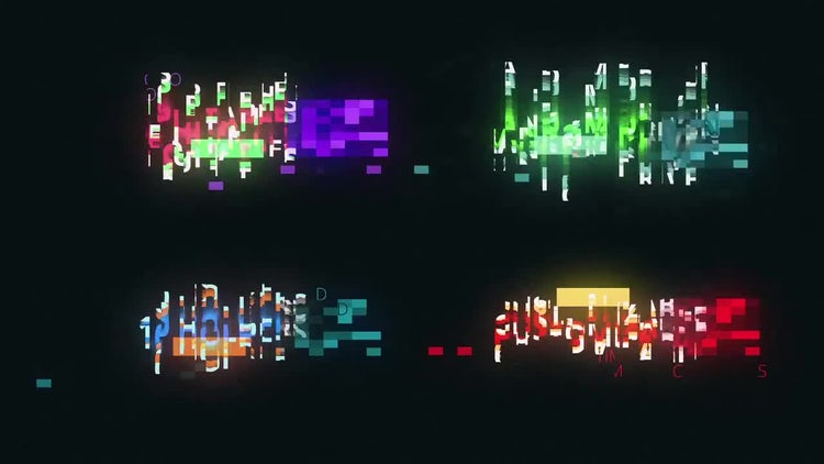 Glitch Logo Reveal and Titles Maker: After Effects Templates