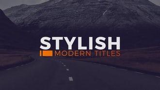 Stylish Modern Titles: Premiere Pro Templates