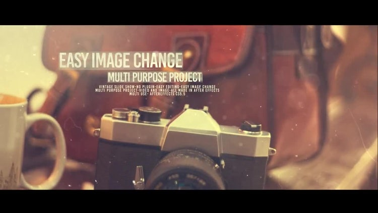 Vintage Slide: After Effects Templates
