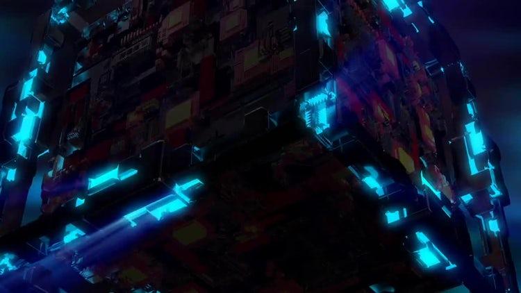 Techno Cube VJ Loop: Stock Motion Graphics