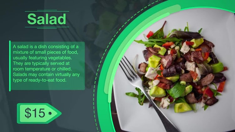 Food Menu Slideshow: After Effects Templates