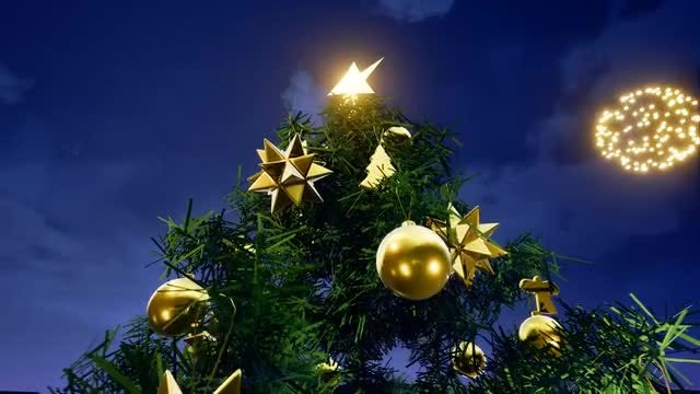 Christmas Big Tree: Stock Motion Graphics