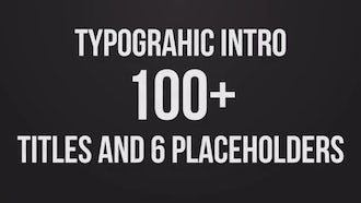 Stomp Typographic Intro: Premiere Pro Templates