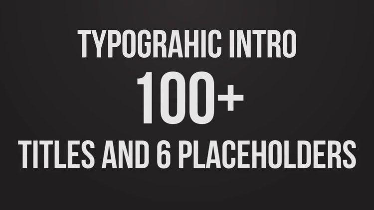 Stomp Typographic Intro: Premiere Pro Templates