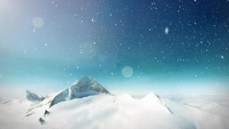 Snow Mountain Loop: Motion Graphics