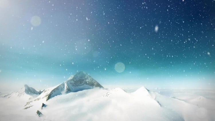 Snow Mountain Loop: Stock Motion Graphics
