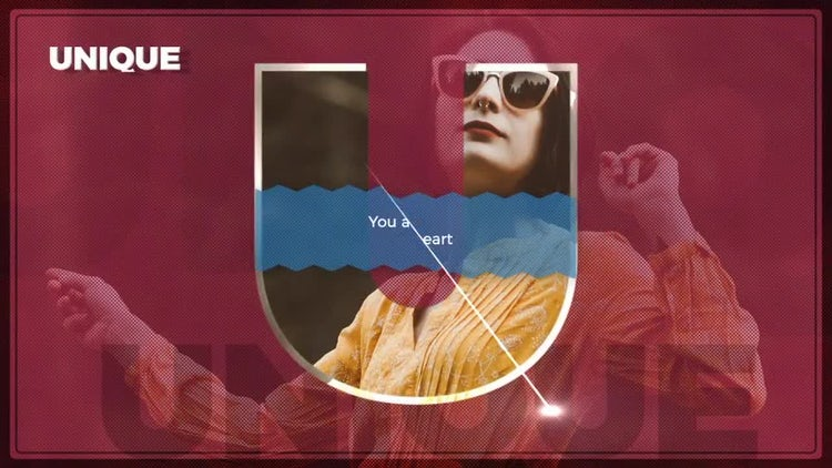 Big Letter Slideshow: After Effects Templates