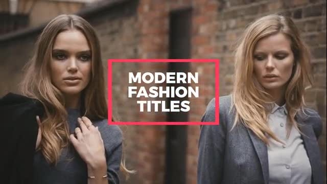 Fashion Titles: After Effects Templates