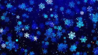 Snowflakes Loop Background: Motion Graphics
