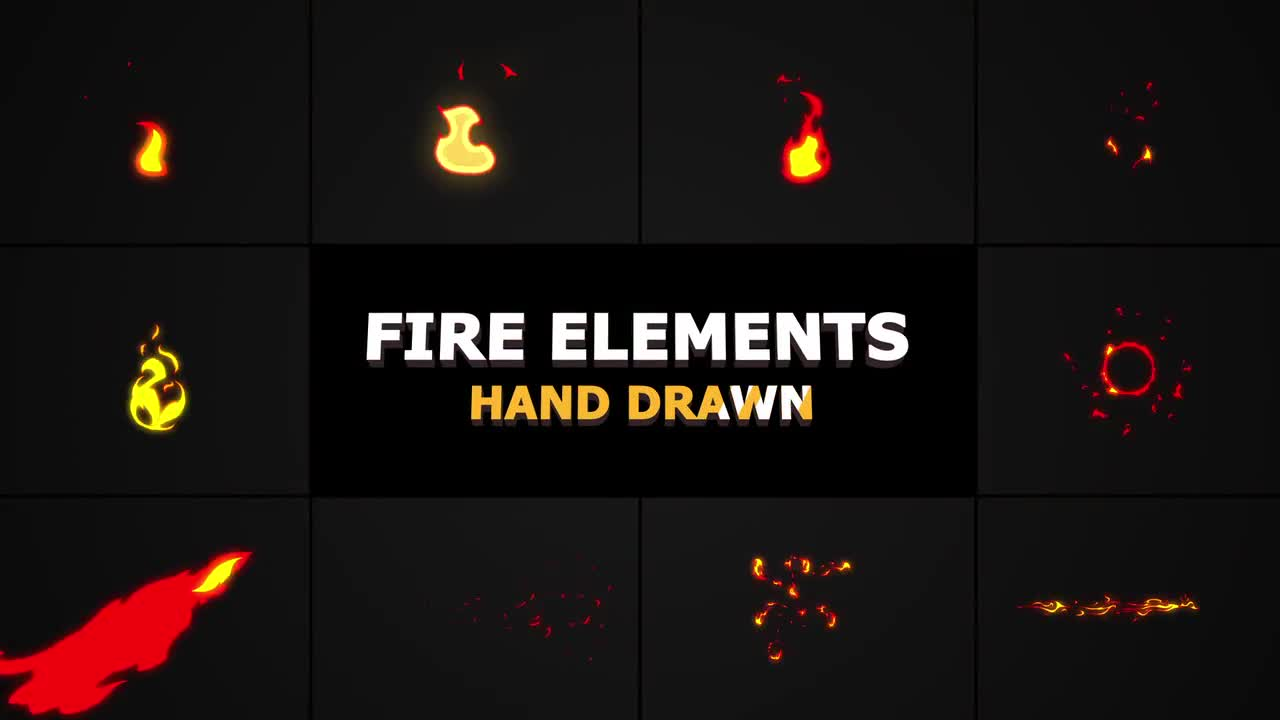 Flash FX FIRE Elements - Stock Motion Graphics | Motion Array
