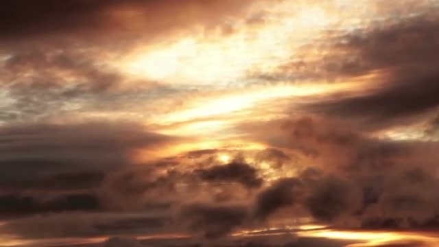 Evening Clouds Time Lapse: Stock Video