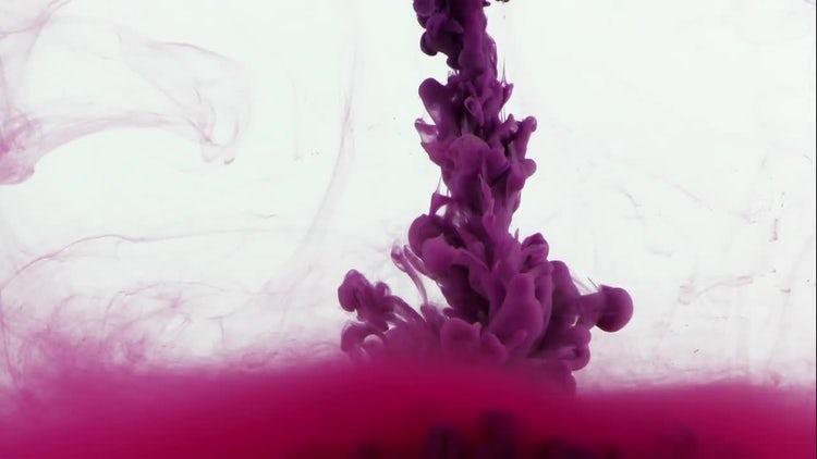 Purple Ink Cloud Blast: Stock Video
