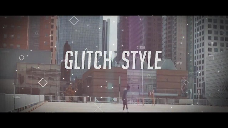 Modern Glitch Promo: After Effects Templates