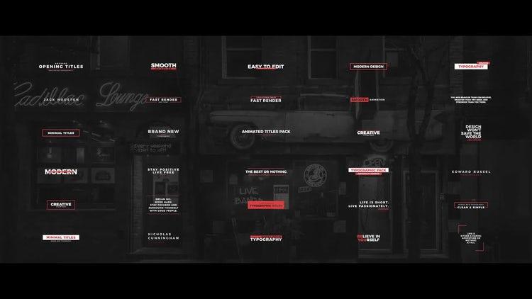 30 Clean Titles: Premiere Pro Templates