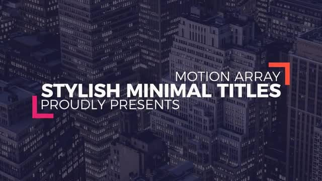 Stylish Minimal Titles: After Effects Templates