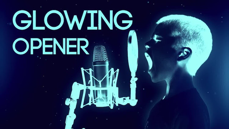 Glowing Opener: Premiere Pro Templates