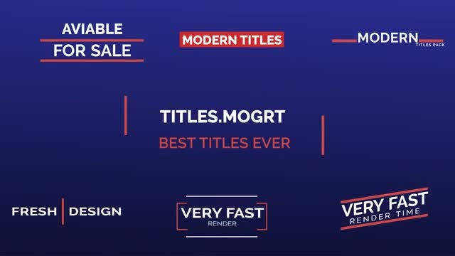 motion 5 title templates - modern titles pack motion graphics templates motion array