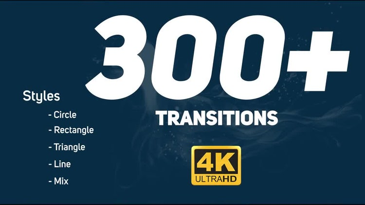 Transitions Pack (Ultra HD): Motion Graphics