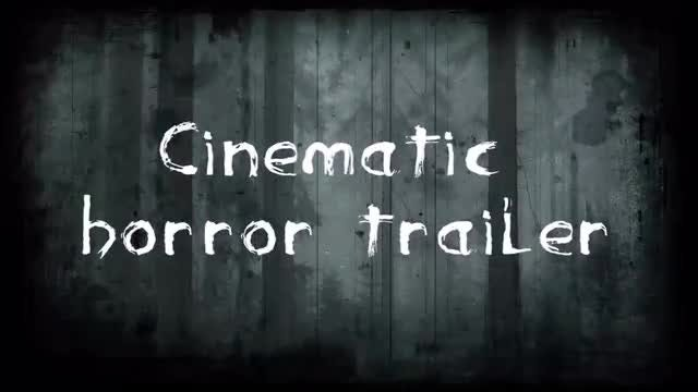 Cinematic Horror Trailer: Premiere Pro Templates