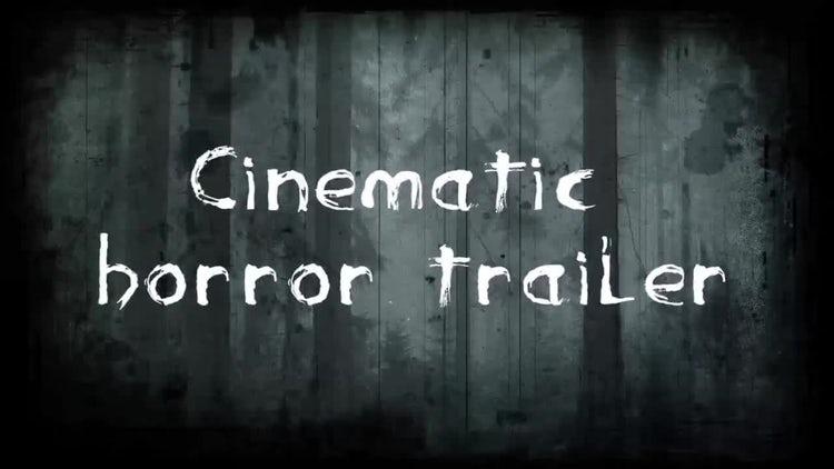Cinematic Horror Trailer: Premiere Pro Templates