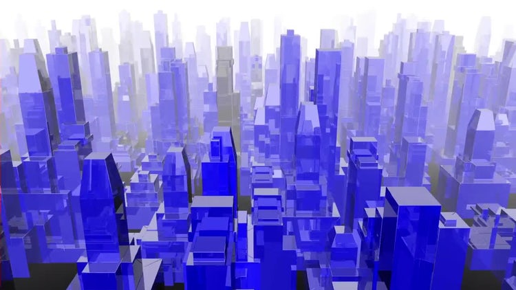 Blue Reflective City: Motion Graphics