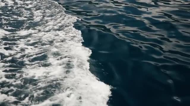 Waves from under the boat: Stock Video