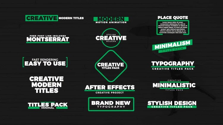 15 Stylish Titles: After Effects Templates