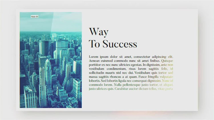 Stylish Business Presentation: After Effects Templates
