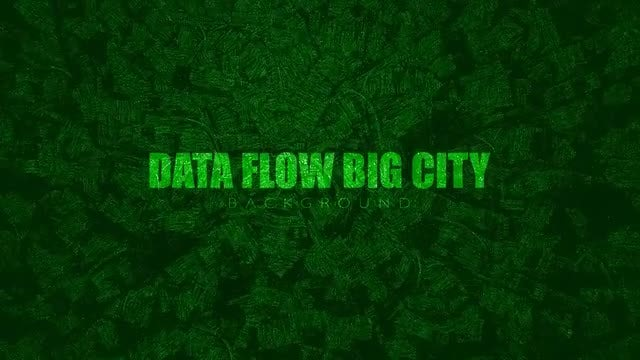 Data Flow Big City: Stock Motion Graphics