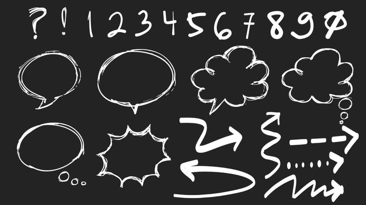 45 Hand Drawn Elements: Motion Graphics