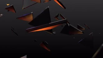 Gold Polygons: Motion Graphics