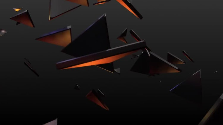 Gold Polygons: Stock Motion Graphics