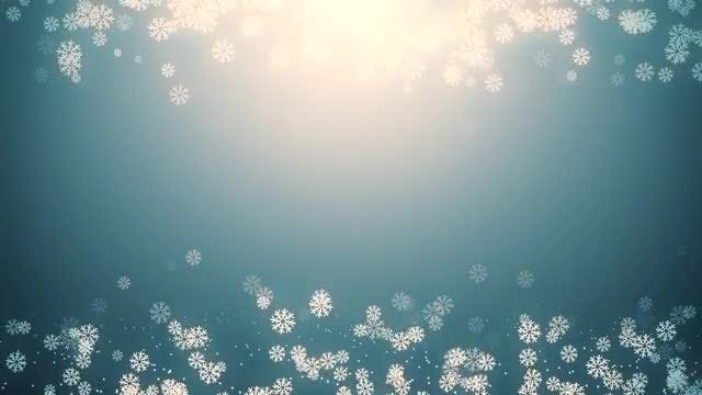 Snowfall Background: Stock Motion Graphics