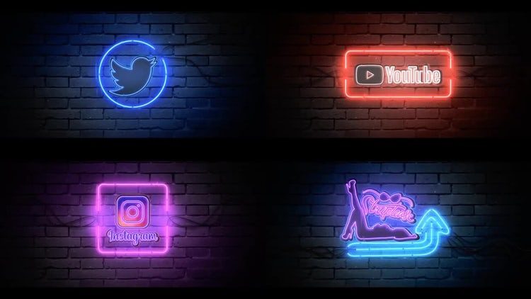 Rain Neon Logo: After Effects Templates