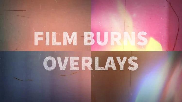 Film Burns Overlays: Stock Motion Graphics
