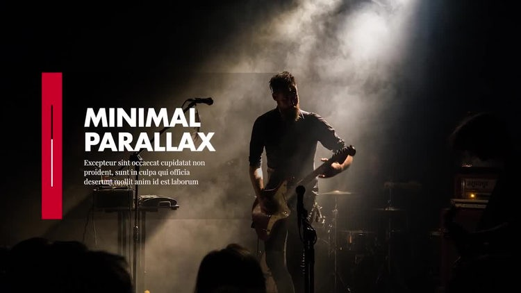 Minimal - Parallax Presentation: Premiere Pro Templates